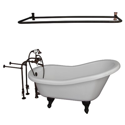 "60"" x 30"" Soaking Bathtub Kit Color: Oil Rubbed Bronze"