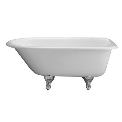 "Anthea 60"" x 30"" Soaking Bathtub Color: Polished Chrome"
