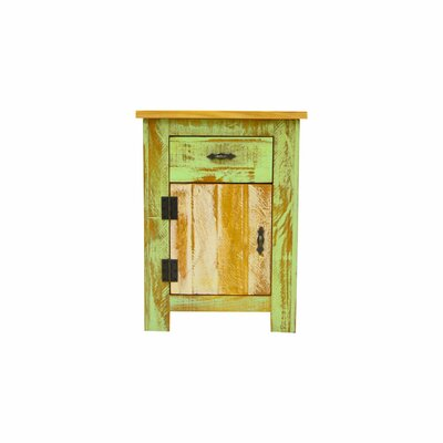 Christy Reclaimed 1 Drawer Accent Cabinet