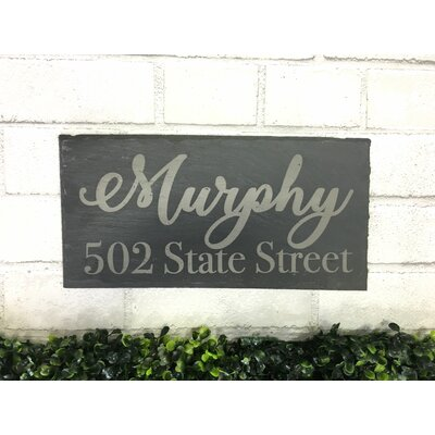 Full 2-Line Wall Address Plaque