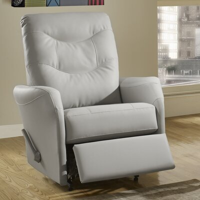 Avery Leather Power Rocker Recliner Reclining Type: Manual, Upholstery: Leather - Tan