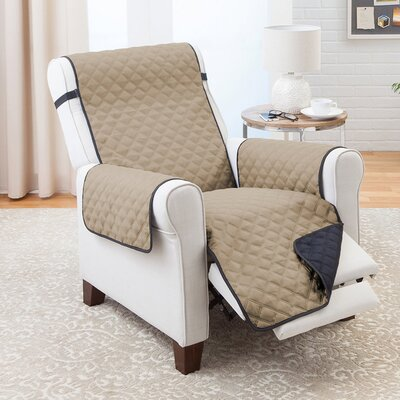 T-Cushion Recliner Slipcover Color: Black/Taupe