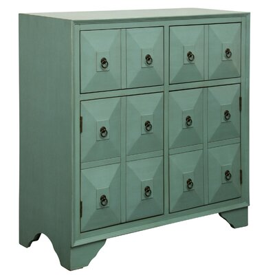 Kathleen 2 Door 2 Drawer Metal Glides Accent Cabinet