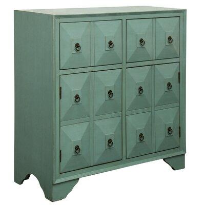 Kathleen 2 Door 2 Drawer Metal Glides Accent Cabinet