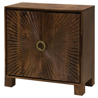 Destin Starburst Embossed 2 Door Accent Cabinet