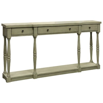 Kaitlyn Console Table Color: Gray/Green