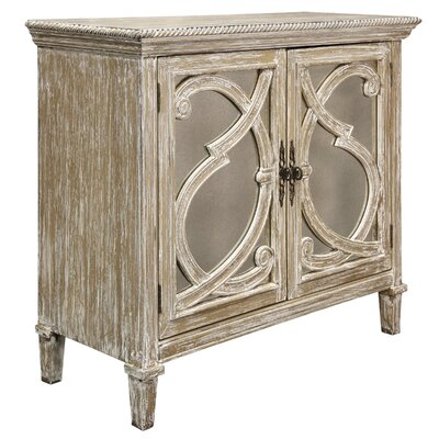 Southfield Mirrored Front 2 Door Accent Cabinet Color: Weathered Taupe