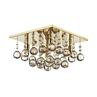 Dar Lighting Abacus 4 Light Semi-Flush Ceiling Light
