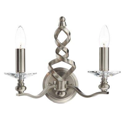 Dar Lighting Alassio 2 Light Candle Wall Light