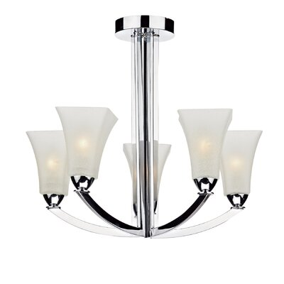 Dar Lighting Arlington 5 Light Semi-Flush Ceiling Light