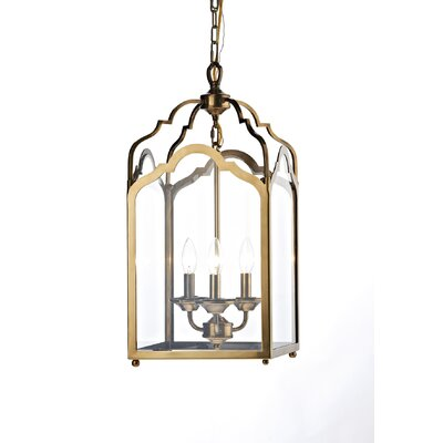 Dar Lighting Cognac 3 Light Foyer Pendant