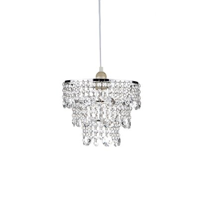 Dar Lighting 25cm Glass Drum Pendant Shade