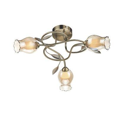 Dar Lighting Clifton 3 Light Semi-Flush Ceiling Light