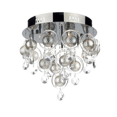 Dar Lighting Cloud 9 Light Semi-Flush Ceiling Light