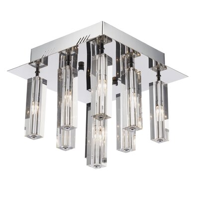 Dar Lighting Galileo 9 Light Flush Ceiling Light