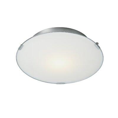 Dar Lighting Foster 1 Light Flush Ceiling Light