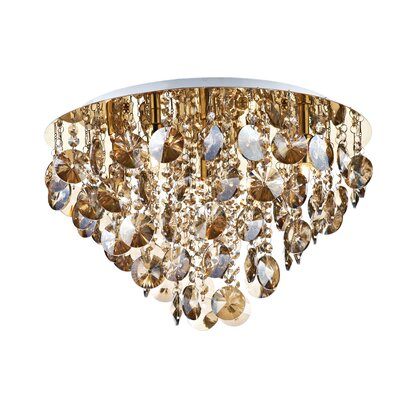 Dar Lighting Jester 5 Light Semi-Flush Ceiling Light