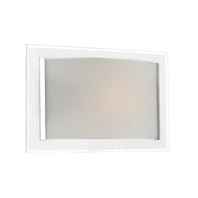 Dar Lighting Inverse 1 Light Flush Wall Light