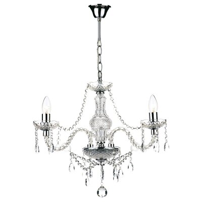 Dar Lighting Katie 3 Light Crystal Chandelier