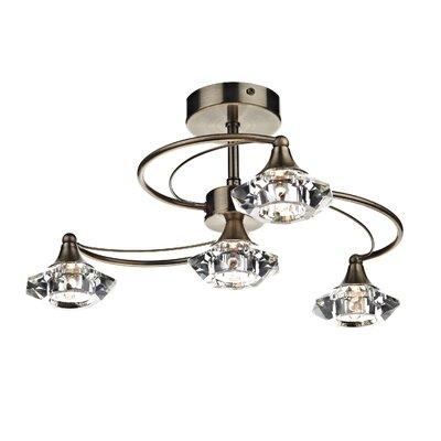 Dar Lighting Luther 4 Light Semi-Flush Ceiling Light