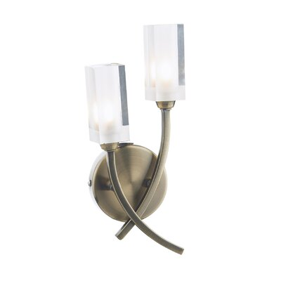 Dar Lighting Morgan 2 Light Semi-Flush Wall Light