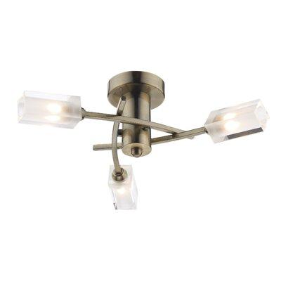 Dar Lighting Morgan 3 Light Semi-Flush Ceiling Light