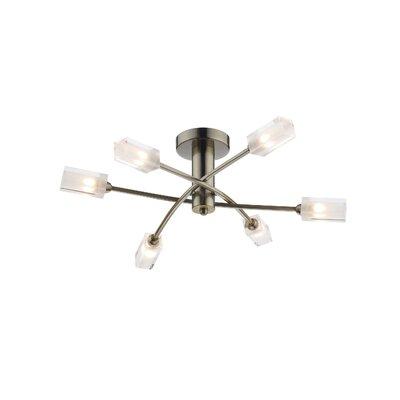 Dar Lighting Morgan 6 Light Semi-Flush Ceiling Light
