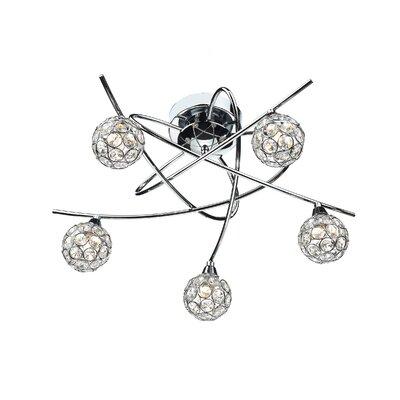 Dar Lighting Nucleus 5 Light Semi-Flush Ceiling Light