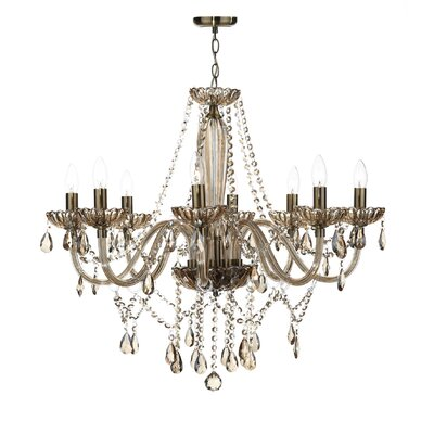 Dar Lighting Raphael 8 Light Crystal Chandelier