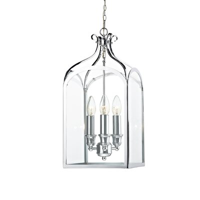 Dar Lighting Senator 3 Light Foyer Pendant