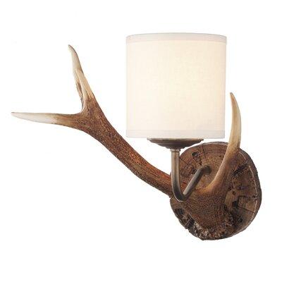 Dar Lighting Antler 1 Light Flush Light