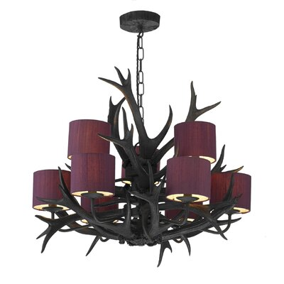 Dar Lighting Antler 9 Light Chandelier
