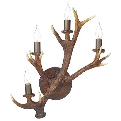 Dar Lighting Antler 4 Light Flush Light