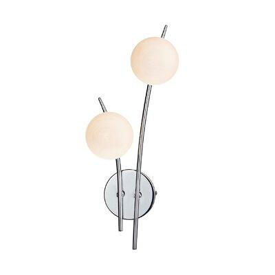 Dar Lighting Tetra 2 Light Semi-Flush Wall Light