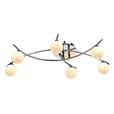 Dar Lighting Tetra 6 Light Semi-Flush Ceiling Light