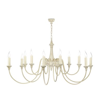 Dar Lighting Bailey 12 Light Candle Chandelier