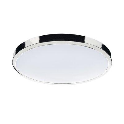Dar Lighting Oban 1 Light Flush Ceiling Light