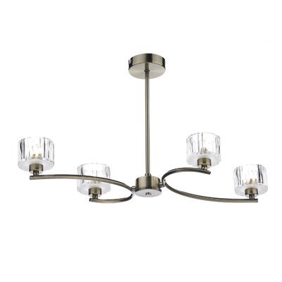 Dar Lighting Laguna 4 Light Semi-Flush Ceiling Light