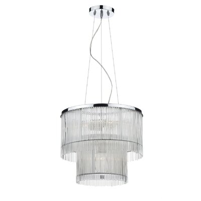 Dar Lighting Japan 6 Light Drum Pendant