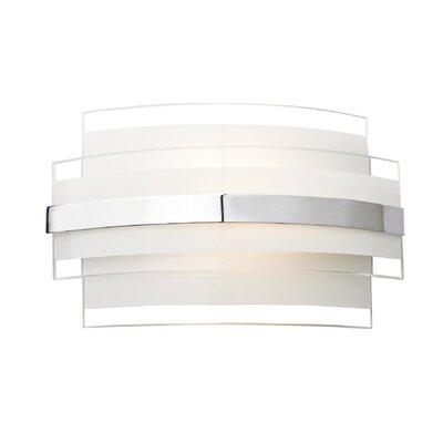 Dar Lighting Edge 1 Light Flush Wall Light