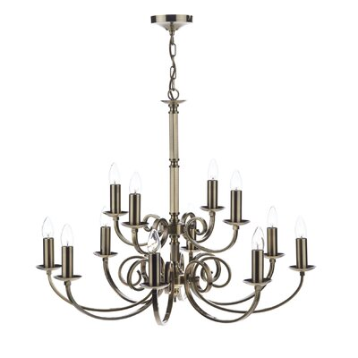 Dar Lighting Murray 12 Light Candle Chandelier