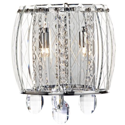 Dar Lighting Mezzo 2 Light Semi-Flush Wall Light