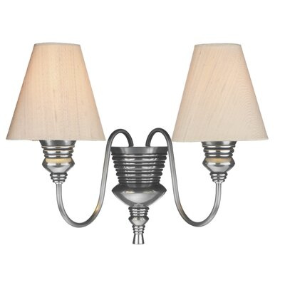 Dar Lighting Doreen 2 Light Semi Flush Light