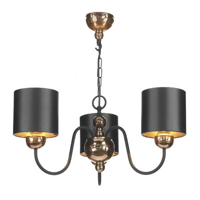 Dar Lighting Garbo 3 Light Chandelier