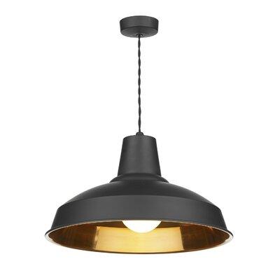 Dar Lighting Reclamation 1 Light Bowl Pendant
