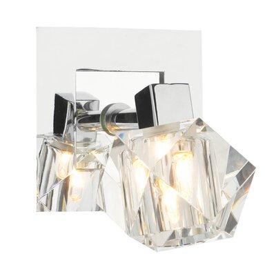 Dar Lighting Geo 1 Light Semi-Flush Wall Light