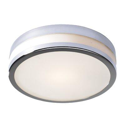 Dar Lighting Cyro 1 Light Flush Ceiling Light