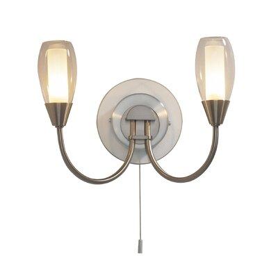 Dar Lighting Tugel 2 Light Semi-Flush Wall Light