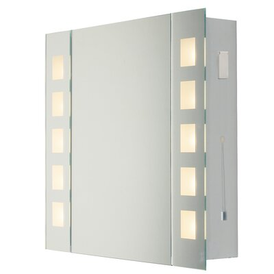 Dar Lighting 65cm x 60cm Surface Mount Mirror Cabinet
