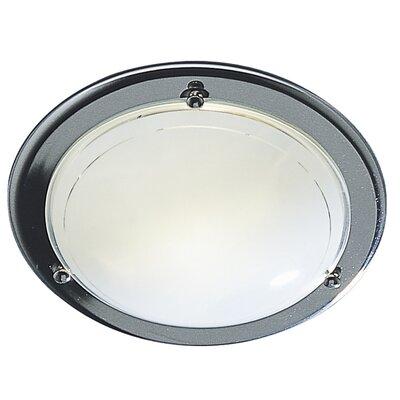 Dar Lighting Disc 1 Light Flush Ceiling Light